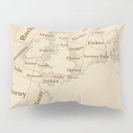 Vintage Style shipping forecast key Pillow Sham