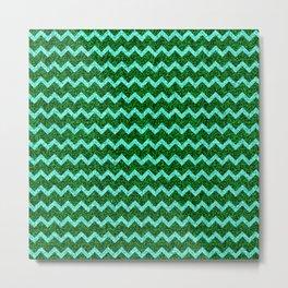 Chevron Glitter Pattern 08 Metal Print