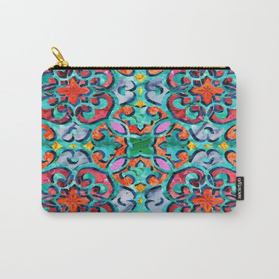 Moroccan Mandala Tile 01 Carry-All Pouch