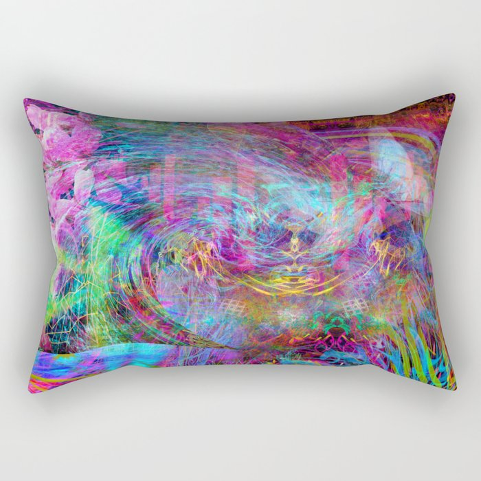 Brief Visit From A Fairy Spirit Rectangular Pillow