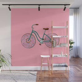 Donut Bicycle Wall Mural