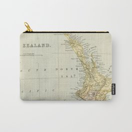 Vintage Map of New Zealand Carry-All Pouch