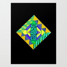 Neon Diamond Art Print