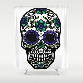 Sugar Skull 11 Shower Curtain