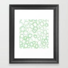 Watercolor Circle Sage Framed Art Print