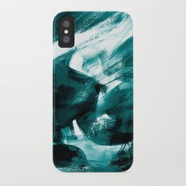 Abstract Artwork Petrol #1 iPhone Case