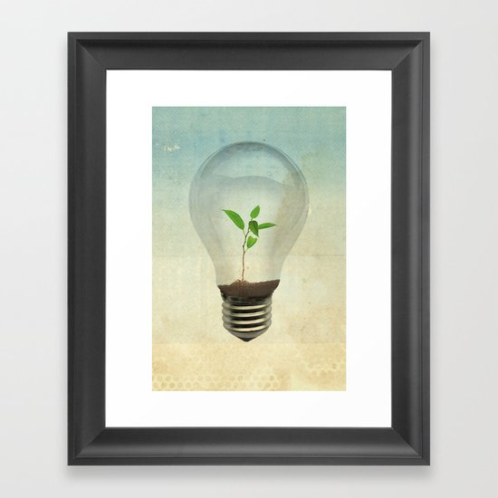 green ideas Framed Art Print