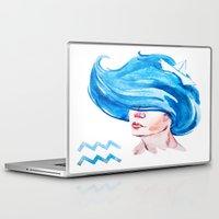 aquarius Laptop & iPad Skins featuring Aquarius by Aloke Design