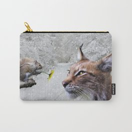 Lynx and Squirrel Carry-All Pouch