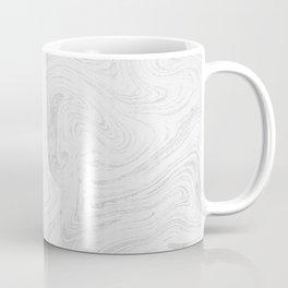Elegant white silver glitter abstract marble Coffee Mug