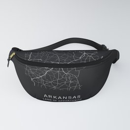 Arkansas State Road Map Fanny Pack