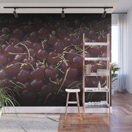 cherries pattern reaclifn Wall Mural