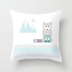 Kettu the Arctic Fox Throw Pillow