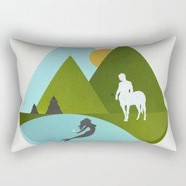 The Mermaid and the Centaur Rectangular Pillow