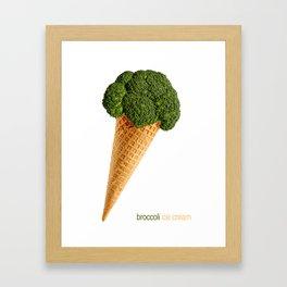 broccoli ice cream Framed Art Print