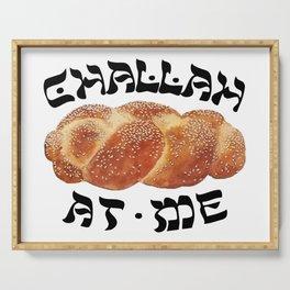 Challah Back Girl Nice Jewish Hanukkah Gifts Serving Tray
