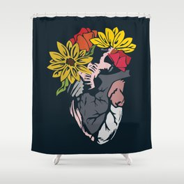 Floral Mexican Heart Shower Curtain
