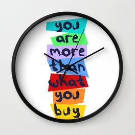More Than Material Wall Clock