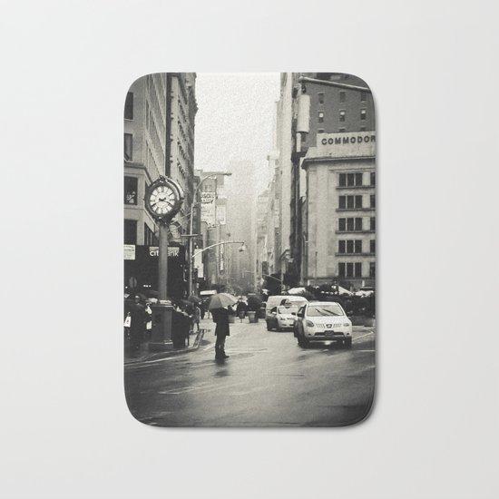 New York City - 5th Avenue in the Rain Bath Mat
