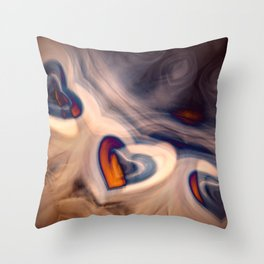 Hearts in smoke. Throw Pillow