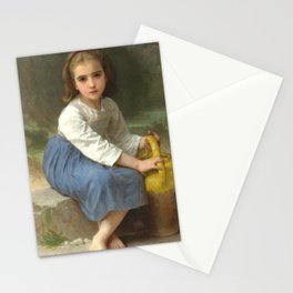 """William-Adolphe Bouguereau """"Girl with Pitcher"""" Stationery Cards"""