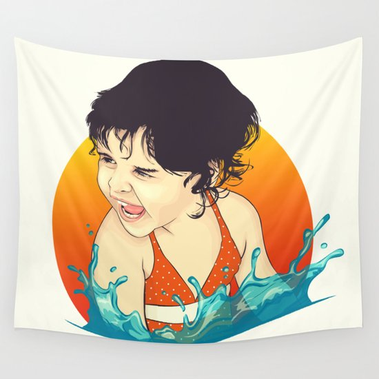 Water Splashes Wall Tapestry