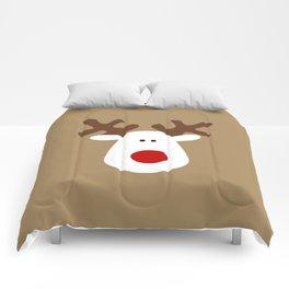 Christmas Reindeer-Brown Comforters