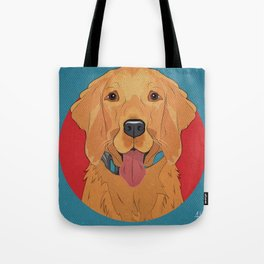 Icons of the Dog Park: Golden Retriever Design in Bold Colors for Pet Lovers Art Print Tote Bag