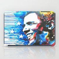 obama iPad Cases featuring Obama White by Phil Fung