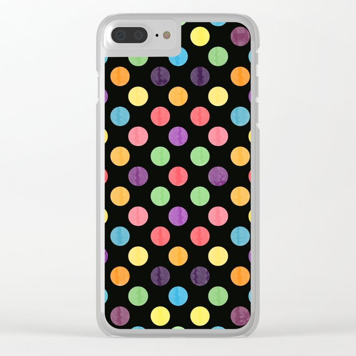 Lovely Dots Pattern Clear iPhone Case