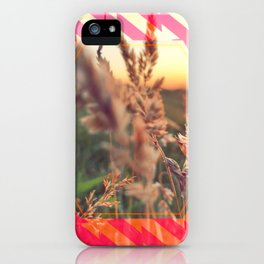 Peel sunset lll - pink graphic iPhone Case