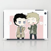 destiel iPad Cases featuring Red thread by Nile-kun