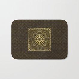 Gold Sri Yantra  / Sri Chakra Bath Mat