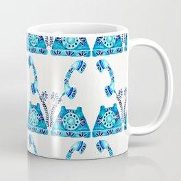 Vintage Rotary Phone – Blue Raspberry Coffee Mug