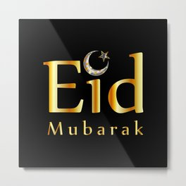 Eid mubarak Metal Print