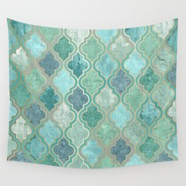 Moroccan Teal Green Wall Tapestry