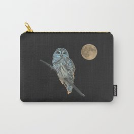 Owl, See the Moon (sq Barred Owl) Carry-All Pouch