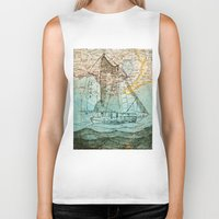 sailboat Biker Tanks featuring Mom's Sailboat by Brittany Rae