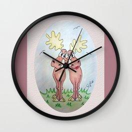 Never mind calm. Keep hugging! Wall Clock