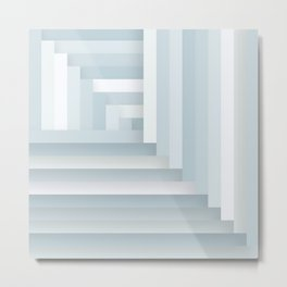 Herringbone Layers Metal Print