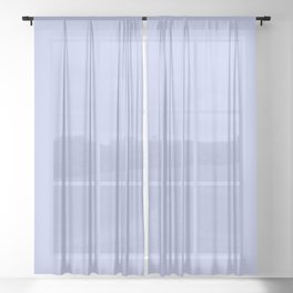 Kiss of Spring ~ Periwinkle Coordinating Solid Sheer Curtain