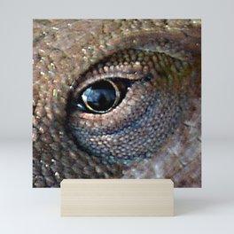 lizard eye Mini Art Print