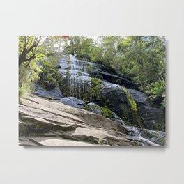 Straw Falls Metal Print
