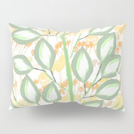 The Calming Tree With Peach And Gold Roses Pillow Sham