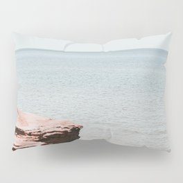 Pink rock ocean Pillow Sham