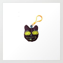 teddy pop art keychain Art Print