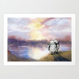 Companion Sheep Art Print