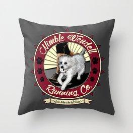 Nimble Wendell Running Co. (Contemporary Logo) Throw Pillow