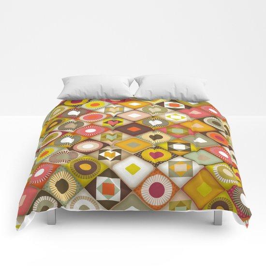 parava retro diagonal Comforters