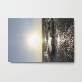 The Tide Comes in on Enoshima Island Metal Print